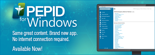 PEPID for Windows. Available Now.